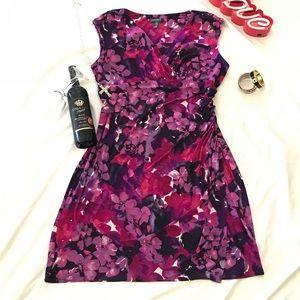 RALPH LAUREN plus size Stretch Floral dress 20w
